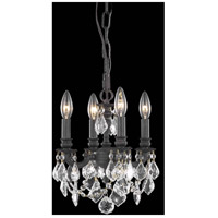 Elegant Lighting Lillie 4 Light Pendant in Dark Bronze with Elegant Cut Clear Crystal 9104D10DB/EC