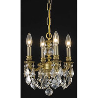 Lillie 3 Light 10 inch French Gold Pendant Ceiling Light in Golden Shadow, Royal Cut