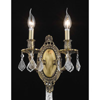 Elegant Lighting Rosalia 2 Light Wall Sconce in Antique Bronze with Royal Cut Clear Crystal 9202W9AB/RC alternative photo thumbnail