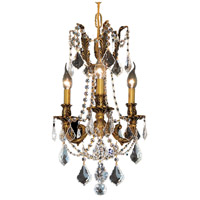 Elegant Lighting Rosalia 3 Light Pendant in French Gold with Swarovski Strass Clear Crystal 9203D13FG/SS