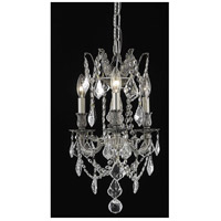 Rosalia 3 Light 13 inch Pewter Pendant Ceiling Light in Clear, Royal Cut