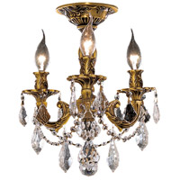 Elegant Lighting Rosalia 3 Light Flush Mount in French Gold with Swarovski Strass Clear Crystal 9203F13FG/SS