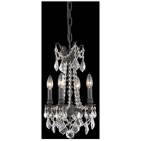 Elegant Lighting 9204D10DB/RC Rosalia 4 Light 10 inch Dark Bronze Pendant Ceiling Light in Clear Royal Cut