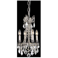 Elegant Lighting Rosalia 4 Light Pendant in Pewter with Royal Cut Clear Crystal 9204D10PW/RC