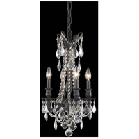 Elegant Lighting Rosalia 4 Light Pendant in Dark Bronze with Royal Cut Clear Crystal 9204D13DB/RC