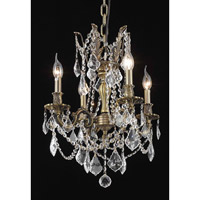 Elegant Lighting 9204D17AB/SS Rosalia 4 Light 17 inch Antique Bronze Dining Chandelier Ceiling Light in Clear, Swarovski Strass alternative photo thumbnail