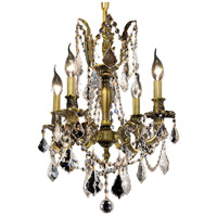 Elegant Lighting Rosalia 4 Light Dining Chandelier in Antique Bronze with Elegant Cut Clear Crystal 9204D17AB/EC