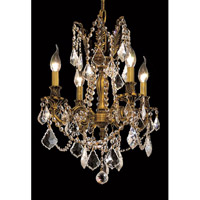 Elegant Lighting Rosalia 4 Light Dining Chandelier in French Gold with Royal Cut Clear Crystal 9204D17FG/RC alternative photo thumbnail