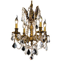 Elegant Lighting Rosalia 4 Light Dining Chandelier in French Gold with Royal Cut Clear Crystal 9204D17FG/RC