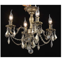 Elegant Lighting Rosalia 4 Light Flush Mount in Antique Bronze with Royal Cut Golden Teak Crystal 9204F17AB-GT/RC