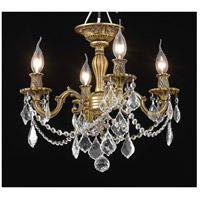 Elegant Lighting Rosalia 4 Light Flush Mount in French Gold with Spectra Swarovski Clear Crystal 9204F17FG/SA