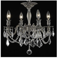 Elegant Lighting Rosalia 4 Light Flush Mount in Pewter with Spectra Swarovski Clear Crystal 9204F17PW/SA