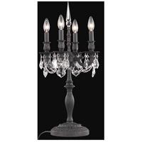 Elegant Lighting 9204TL12DB/RC Rosalia 26 inch 60 watt Dark Bronze Table Lamp Portable Light in Clear Royal Cut