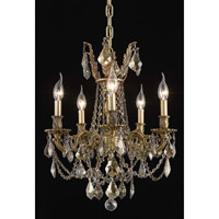 Elegant Lighting Rosalia 5 Light Dining Chandelier in French Gold with Royal Cut Golden Teak Crystal 9205D18FG-GT/RC alternative photo thumbnail