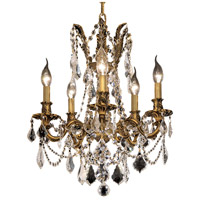 Elegant Lighting Rosalia 5 Light Dining Chandelier in French Gold with Elegant Cut Clear Crystal 9205D18FG/EC