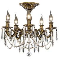 Elegant Lighting Rosalia 5 Light Flush Mount in Antique Bronze with Elegant Cut Clear Crystal 9205F18AB/EC photo thumbnail