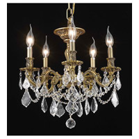Elegant Lighting Rosalia 5 Light Flush Mount in French Gold with Royal Cut Clear Crystal 9205F18FG/RC alternative photo thumbnail
