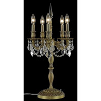 Elegant Lighting Rosalia 5 Light Table Lamp in French Gold with Royal Cut Clear Crystal 9205TL13FG/RC