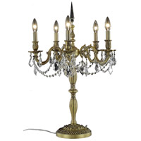 Elegant Lighting Rosalia 5 Light Table Lamp in French Gold with Royal Cut Clear Crystal 9205TL18FG/RC