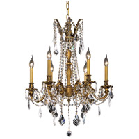 Elegant Lighting Rosalia 6 Light Dining Chandelier in French Gold with Royal Cut Clear Crystal 9206D23FG/RC