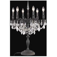 Elegant Lighting 9206TL20DB/SA Rosalia 29 inch 60 watt Dark Bronze Table Lamp Portable Light in Clear Spectra Swarovski