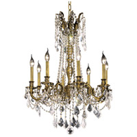 Elegant Lighting Rosalia 8 Light Dining Chandelier in Antique Bronze with Royal Cut Clear Crystal 9208D24AB/RC