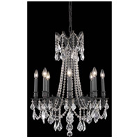 Elegant Lighting Rosalia 8 Light Dining Chandelier in Dark Bronze with Elegant Cut Clear Crystal 9208D24DB/EC