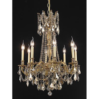 Elegant Lighting Rosalia 8 Light Dining Chandelier in French Gold with Royal Cut Golden Teak Crystal 9208D24FG-GT/RC alternative photo thumbnail