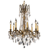 Elegant Lighting Rosalia 8 Light Dining Chandelier in French Gold with Royal Cut Clear Crystal 9208D24FG/RC