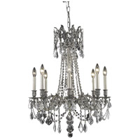 Elegant Lighting Rosalia 8 Light Dining Chandelier in Pewter with Elegant Cut Clear Crystal 9208D24PW/EC