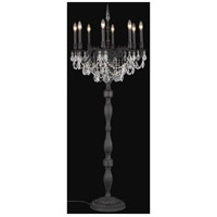 Elegant Lighting Rosalia 8 Light Floor Lamp in Dark Bronze with Royal Cut Clear Crystal 9208FL24DB/RC