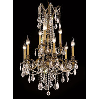 Elegant Lighting Rosalia 9 Light Dining Chandelier in Antique Bronze with Spectra Swarovski Clear Crystal 9209D23AB/SA alternative photo thumbnail
