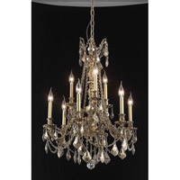 Elegant Lighting Rosalia 9 Light Dining Chandelier in Antique Bronze with Royal Cut Golden Teak Crystal 9209D23AB-GT/RC alternative photo thumbnail