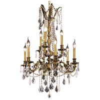 Elegant Lighting Rosalia 9 Light Dining Chandelier in Antique Bronze with Elegant Cut Clear Crystal 9209D23AB/EC
