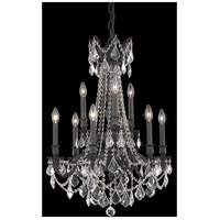 Elegant Lighting Rosalia 9 Light Dining Chandelier in Dark Bronze with Royal Cut Clear Crystal 9209D23DB/RC