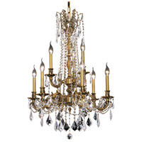 Elegant Lighting Rosalia 9 Light Dining Chandelier in French Gold with Swarovski Strass Clear Crystal 9209D23FG/SS
