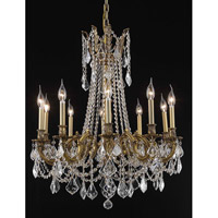Elegant Lighting Rosalia 10 Light Dining Chandelier in French Gold with Royal Cut Clear Crystal 9210D28FG/RC alternative photo thumbnail