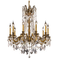 Elegant Lighting Rosalia 10 Light Dining Chandelier in French Gold with Royal Cut Clear Crystal 9210D28FG/RC