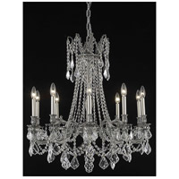 Elegant Lighting Rosalia 10 Light Dining Chandelier in Pewter with Elegant Cut Clear Crystal 9210D28PW/EC