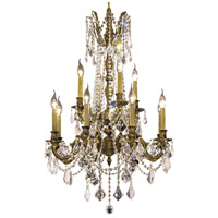 Elegant Lighting Rosalia 12 Light Dining Chandelier in Antique Bronze with Elegant Cut Clear Crystal 9212D24AB/EC