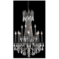 Elegant Lighting Rosalia 12 Light Dining Chandelier in Dark Bronze with Elegant Cut Clear Crystal 9212D24DB/EC
