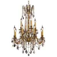 Elegant Lighting Rosalia 12 Light Dining Chandelier in French Gold with Spectra Swarovski Clear Crystal 9212D24FG/SA