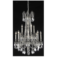Elegant Lighting Rosalia 12 Light Dining Chandelier in Pewter with Elegant Cut Clear Crystal 9212D24PW/EC