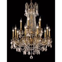 Elegant Lighting 9215D28FG/EC Rosalia 15 Light 28 inch French Gold Dining Chandelier Ceiling Light in Clear, Elegant Cut alternative photo thumbnail