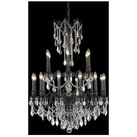 Elegant Lighting Rosalia 18 Light Dining Chandelier in Dark Bronze with Royal Cut Clear Crystal 9218D32DB/RC
