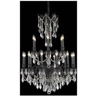 Elegant Lighting 9218D32DB/RC Rosalia 18 Light 32 inch Dark Bronze Dining Chandelier Ceiling Light in Royal Cut