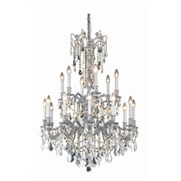 Elegant Lighting 9218D32PW/RC Rosalia 18 Light 32 inch Pewter Dining Chandelier Ceiling Light in Royal Cut