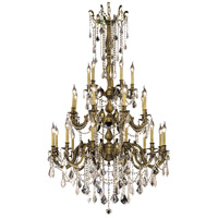 Elegant Lighting Rosalia 25 Light Foyer in Antique Bronze with Elegant Cut Clear Crystal 9225G38AB/EC