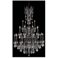 Elegant Lighting Rosalia 25 Light Foyer in Dark Bronze with Elegant Cut Clear Crystal 9225G38DB/EC
