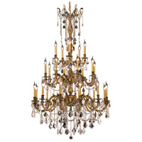 Elegant Lighting Rosalia 25 Light Foyer in French Gold with Elegant Cut Clear Crystal 9225G38FG/EC